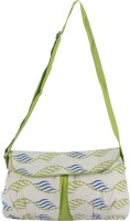 Delfe Women Casual Green Canvas Sling Bag