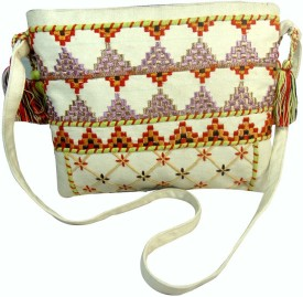 Praniti Girls Multicolor Cotton Sling Bag