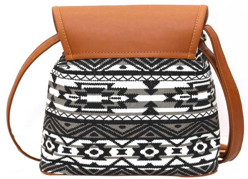 Kleio Women, Girls Black, White, Brown Canvas Sling Bag for Women ...