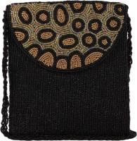 Ahankara Women, Girls Casual, Formal Black, Beige, Gold Beads, Polyester Sling Bag