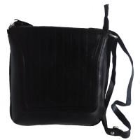 Pranjali Men, Women Casual Black Genuine Leather Sling Bag
