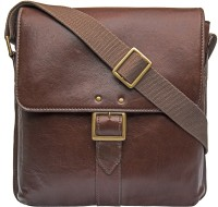 Hidesign Men Brown Genuine Leather Messenger Bag