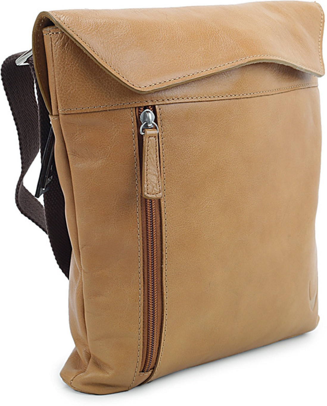 Gym Bag Flipkart: Hidesign Women Casual Tan Genuine Leather Sling Bag Honey