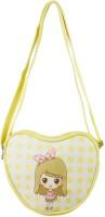 Heels & Handles Women Yellow Leatherette, PU Sling Bag