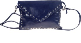 Khadim's Women Blue Leatherette Sling Bag