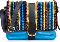 Phive Rivers Genuine Leather - HABENERIA_PR822 Large Sling Bag - Turquoise