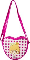 Heels & Handles Women Pink Leatherette, PU Sling Bag