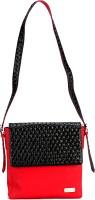 The Zoya Life Girls, Women Red, Black PU Sling Bag