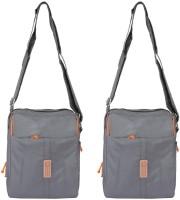 Heels & Handles Women Casual Grey Nylon Sling Bag