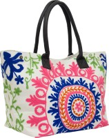 Famous By Payal Kapoor Women Casual Multicolor Canvas Hand-held Bag