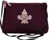 Fabulloso Women Casual Purple Genuine Leather Sling Bag
