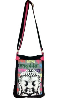 Carry On Bags Script Bhudha Medium Sling Bag - Black