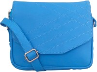 Toteteca Bag Works Women Blue Leatherette Sling Bag