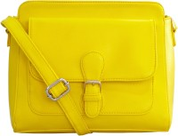 Toteteca Bag Works Women Yellow Leatherette Sling Bag