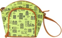Funk For Hire Women Casual Green Canvas Sling Bag