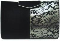 Zaera Twin Tone Clutch Sling Bag - Black