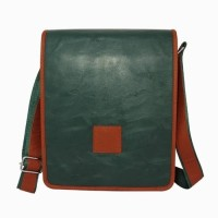 Chimera Leather LMB160281410 Sling Bag - Green, Tan