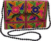 Kwickdeal Women Casual Black Silk Sling Bag
