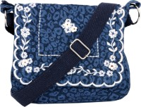 Pick Pocket Women Casual Blue Canvas Sling Bag