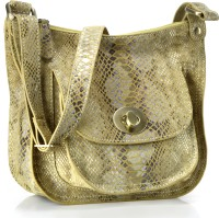 Phive Rivers Genuine Leather : Serpentine Desire_pr751 Medium Sling Bag - Lemon