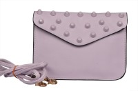 BH Wholesale Market Women Casual Grey Leatherette Sling Bag
