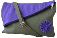Jutecentral Women Casual Green Jute Sling Bag