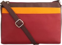 Toteteca Bag Works Women Maroon Leatherette Sling Bag