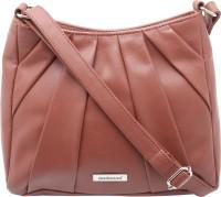 Aadaana Women Casual Brown Leatherette Sling Bag