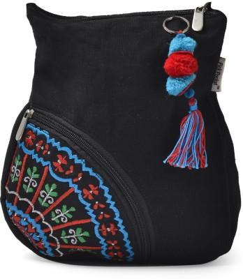 Pick Pocket Side Pocket Medium Sling Bag - Black