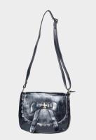 Hot Berries Women Casual Black Leatherette Sling Bag