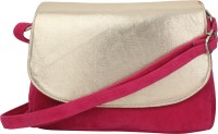 Do Bhai Women Evening/Party Pink PU Sling Bag