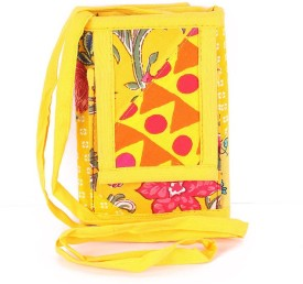 Cute Things Girls, Women Yellow Cotton Sling Bag