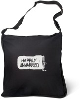 Happily Unmarried Men, Women Casual Black Cotton Sling Bag