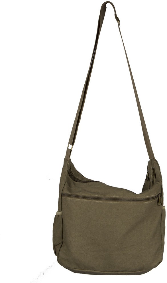Ludan Men Brown Canvas Sling Bag for Women Price in India on 02-08 ...