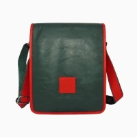 Chimera Leather LMB160411410 Sling Bag - Green, Red