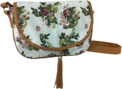 Carry On Bags Spring Flower Sling Bag Medium Sling Bag Cream