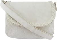 Hi Look Women Casual White PU Sling Bag
