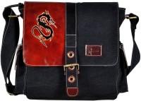 Hawai Dragon Canvas Medium Sling Bag (Black-01)