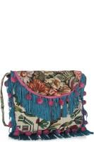 Hi Look Women Casual Multicolor Canvas Sling Bag