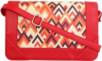 Toteteca Bag Works Women Red Leatherette Sling Bag