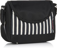 Home Heart Women Casual Black, White Canvas, PU Sling Bag