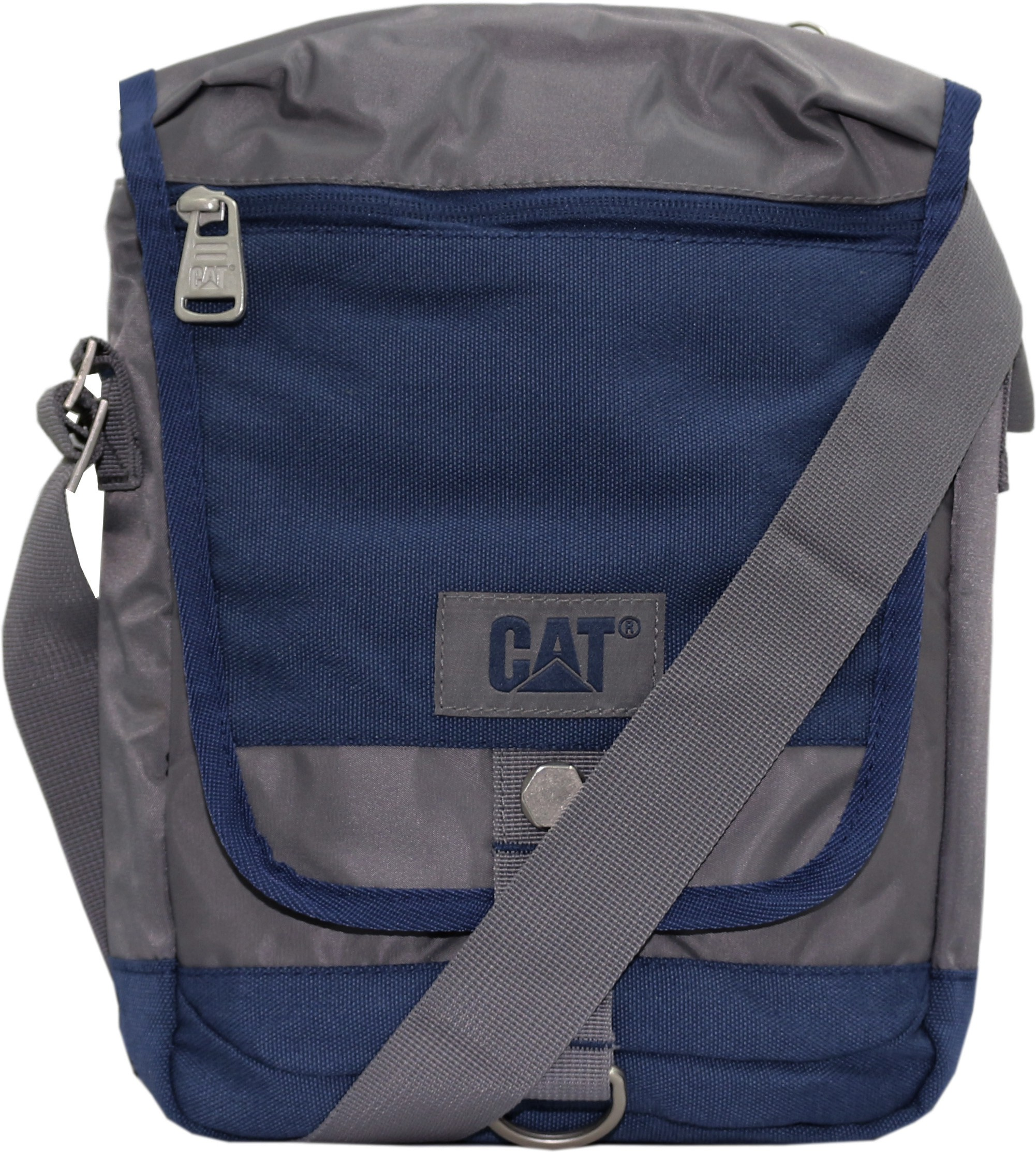 CAT Men, Women Grey, Blue Polyester Sling Bag for Women Price in ...