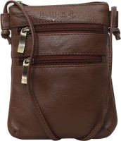 Hunt Women Formal, Casual Brown Genuine Leather Sling Bag