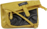 Peperone Women Black, Yellow Artificial Leather Sling Bag
