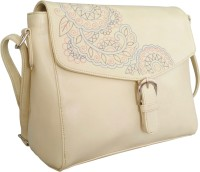 Toteteca Bag Works Women White PU Sling Bag
