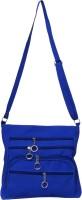 Stylathon Girls Casual Blue Leatherette Sling Bag