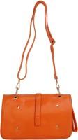 Hi Look Women, Girls Casual Orange PU, Cotton Sling Bag