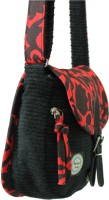 Anekaant Whimsical Small Sling Bag - Black-02
