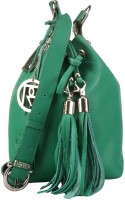 Phive Rivers Women Casual Green Genuine Leather Sling Bag