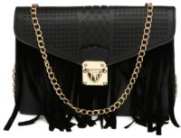 Toniq Girls, Women Evening/Party, Casual, Festive Black PU Sling Bag - SLBEB99YQ5JQ4DAQ